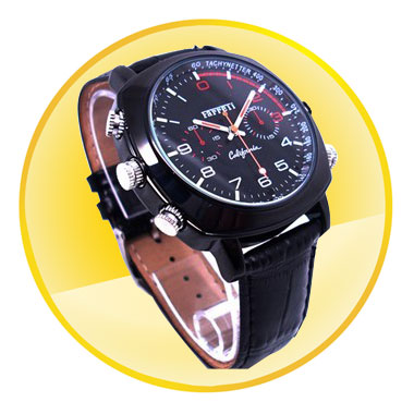 HD 1080P Waterproof Video camera Watch with Night Vision
