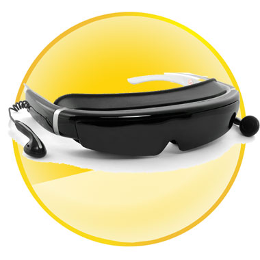 Full HD 1080P 98 Inch Virtual Screen 3D Video Glasses Built-in 8GB Flash Memory