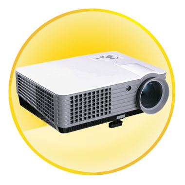 5 inch LCD TFT Display 2200 Lumen Projectors for Home Entertainment
