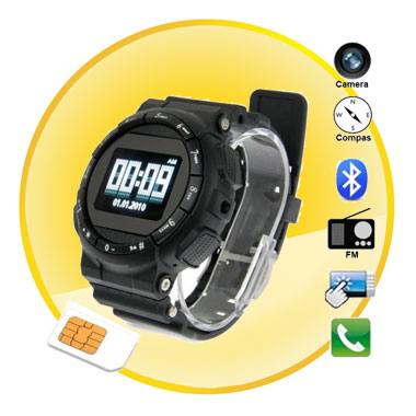 Touch Screen Digital Spy Camera S-shock Watch Phone