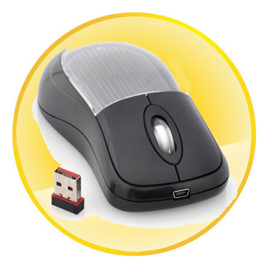 Solar Power Optical Wireless Mouse