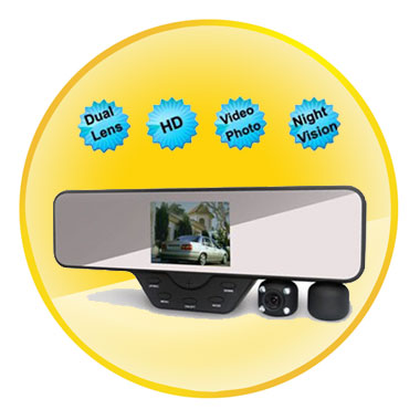 3.5 Inch TFT Screen Dual Camera Car Rearview Camera Night Vision