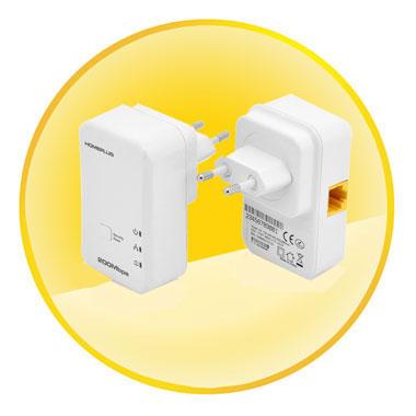 200Mbps Plug and Play Homeplug AV Ethernet Adapter Kit
