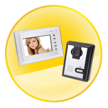 7 Inch TFT LCD Video Door Phone Doorbell Intercom Kit 1-Camera 1-Monitor Night Vision