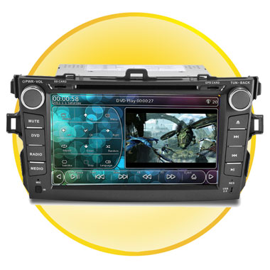 8Inch Touch screen Car PC with GPS Navigation System for Toyota Corolla (2007~2011)