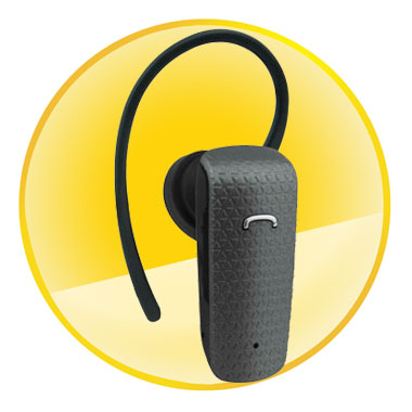 Grey Stereo Bluetooth Headset With Volume Control