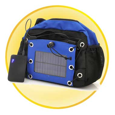 Camera Bag with 2200mAh Back-up Solar Battery Panel