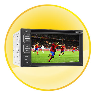 6.2 inch 2Din TFT Screen In-Dash Car DVD Player Support BT, RDS,TV,Touch Screen