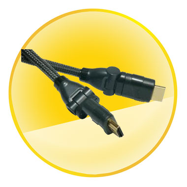 AM-AM Gold Plated Plug 1.4V HDMI Swivel Cable