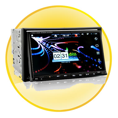 7 Inch Android-2.3 Double Din Car DVD Player with 3G Internet, WiFi, GPS Navigation and DVB-T