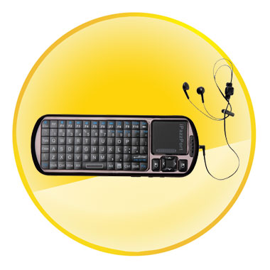 iPazzPort Smart/Android TV IR Remote With Voice Mini Wireless Keyboard