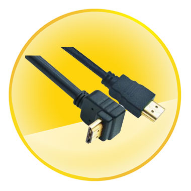 AM-AM CCS Connector 1.4V Angled HDMI Cable