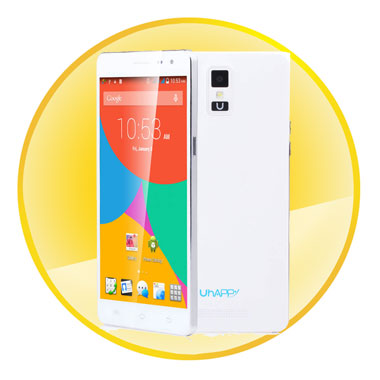 High Performance Quad Core MTK6582 1.3GHz Processor 5.5inch Android 4.4.2 Unlocked Smartphone