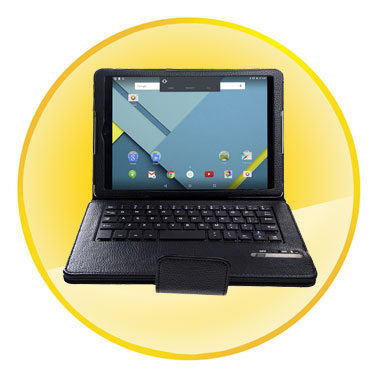 Removable Wireless Bluetooth Keyboard PU Leather Case Cover for Google Nexus 9