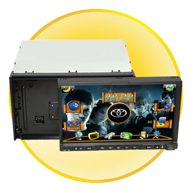 Double Din Car DVD Player with 7 Inch Touch screen +Detachable Front Panel