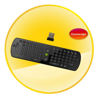 2.4GHz Air Mouse and Wireless Keyboard with Gyroscope