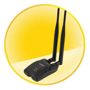 IEEE802.11b/g/n High-power Wireless USB LAN Card