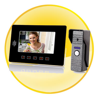 7 Inch Color TFT LCD Video Door Phone Doorbell Intercom Kit with LED