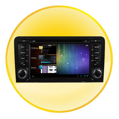 7 inch Digital TFT Touch-Screen Android 4.0 Car DVD for Audi A3