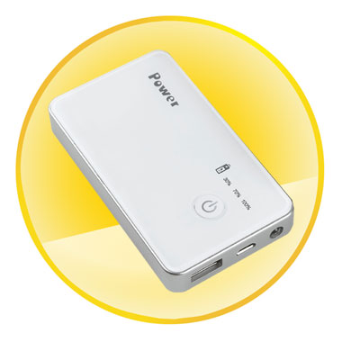 Compact Mobile Power with 3000mAh Rechargeable Battery
