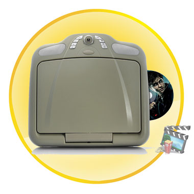 10.2 Inch Roof-Mounted Car DVD Player +Games