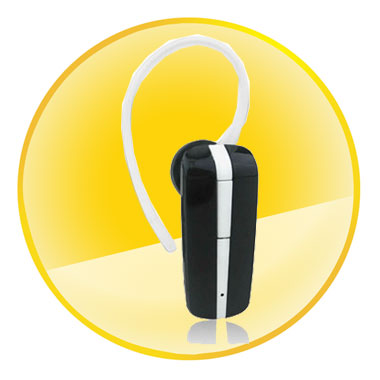 White and Black Stereo Bluetooth Headset With Volume Control