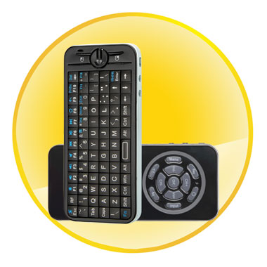 iPazzPort fly/air mouse Mini Wireless Keyboard With 2 mode learning IR remote