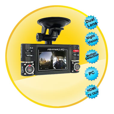 2.7 Inch Dual Camera Car Video Record with IR Night Vision