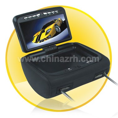 9 inch Headrest DVD Player with USB/SD/Game Slot + IR/FM function-Singel