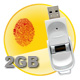 Fingerprint USB Flash Drive + 2GB