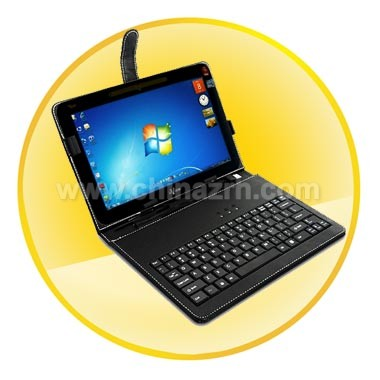 Leather Case + USB Keyboard for 10 Inch Galaxy, XOOM, HTC Flyer and Acer Tablets