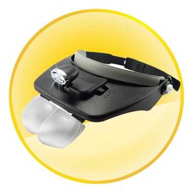 Adjustable Head Visor Magnifying Glasses