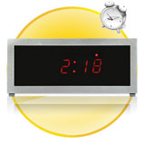 Mirror Alarm Clock with LED Display