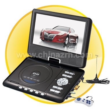 9 Inch TFT LCD Screen Portable DVD Player with Analog TV + 270 Degree Rotating + Game + Copy Function + FM Function