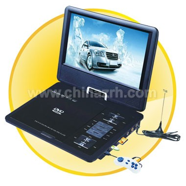 9 inch TFT LCD Screen Portable DVD Player with Analog TV + 270 Degree Rotating + + Game + Copy + FM Function