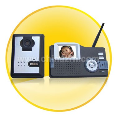 Night Vision Wireless Door Video Phone + Indoor Monitor