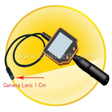 4 White LED Light 3.45inch LCD Tool Camera with 3.0 Million Pixels