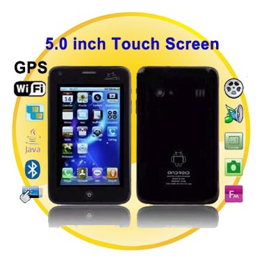 5.0 inch HVGA Touch Screen Dual SIM Cell Phone WIFI+AGPS+TV