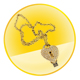 Diamond Heart-shape U-disk Necklace