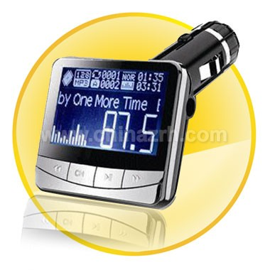 Car mp3 player with 1.4 Inch Display + Wireless FM Transmission