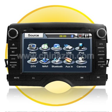 7 Inch TFT LCD fully Motorized 2 Din Toyota-REIZ(2011) Car DVD Player with Touch Screen  + Bluetooth + GPS + DVB-T
