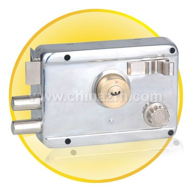 Anti -theft lock with White Chromium