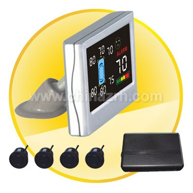 Car Parking Sensor with LCD display Shows Three direction's Distance at The Same Time + 4pcs Sensors