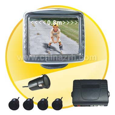 Car Parking Sensor with 3.5 Inch Digital TFT LCD Display + 4pcs Sensors