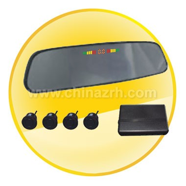 Car Parking Sensor with Rearview Mirror Display + sensors*4pcs