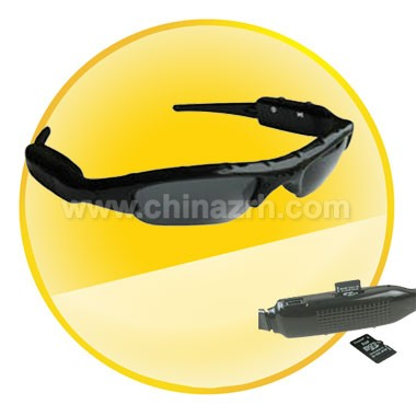 2GB Sunglasses 1.3 MP Camera DVR Video Recorder MP3 Player with Scalable Earphones