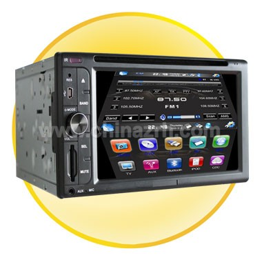 2 Din 7.0 Inch TFT Screen Bluetooth Car DVD Player with GPS + DVB-T