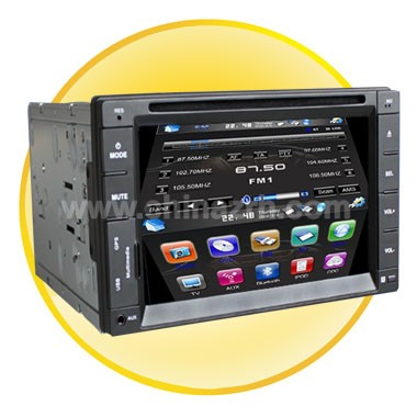 7 inch Touch Screen 2 Din Car DVD Player With TV  + Bluetooth + Ipod + GPS
