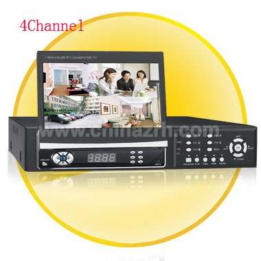 7.0 Inch Hidden TFT Monitor 4 Channel Digital Video Recorder with Remote Control/Mouse Control
