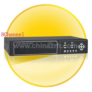 8 Channel Digital Video Recorder with Remote Control/Mouse Control